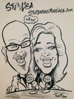 Stu and Lisa Gray Stupendous Marriage Show Caricature